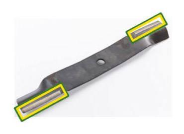 Self-sharpening blade