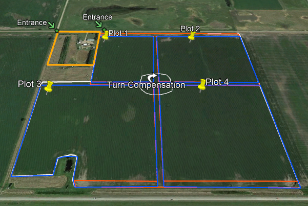 C & B Agronomic Plot Map