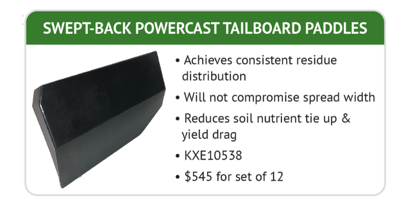 Swept-Back Powercast Tailboard Paddles