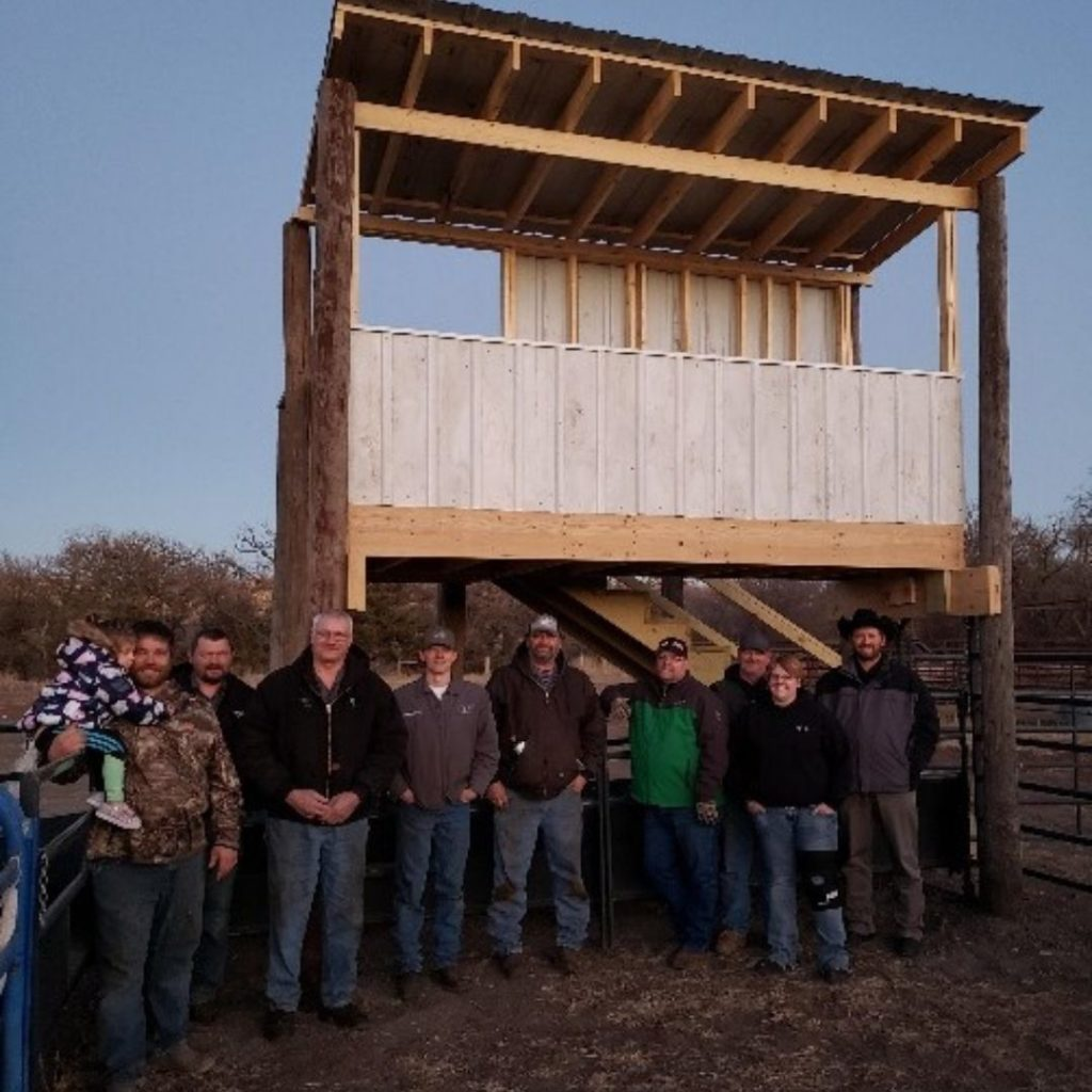 C & B Chamberlain built a new crow's nest for the Brule County Rodeo grounds.