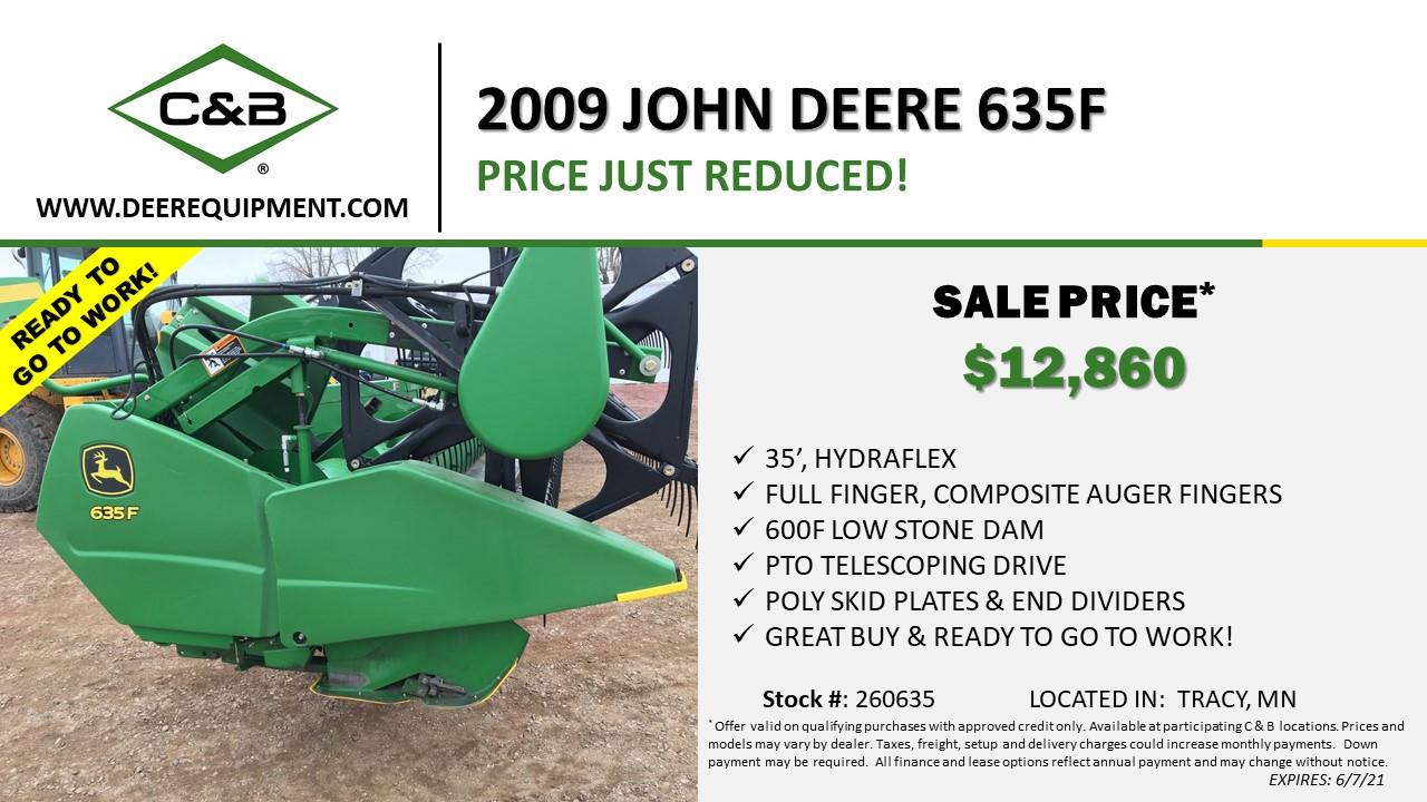 2009 JOHN DEERE 635F – 260635