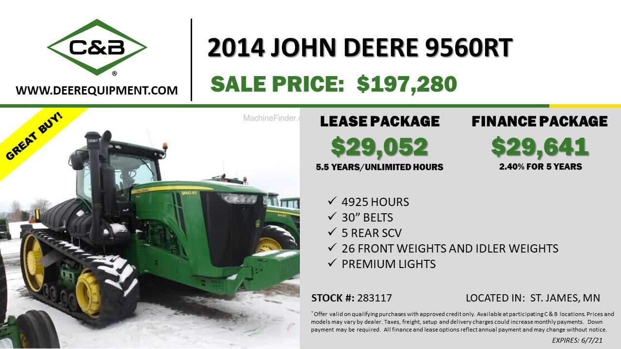 2014 JOHN DEERE 9560RT – 283117