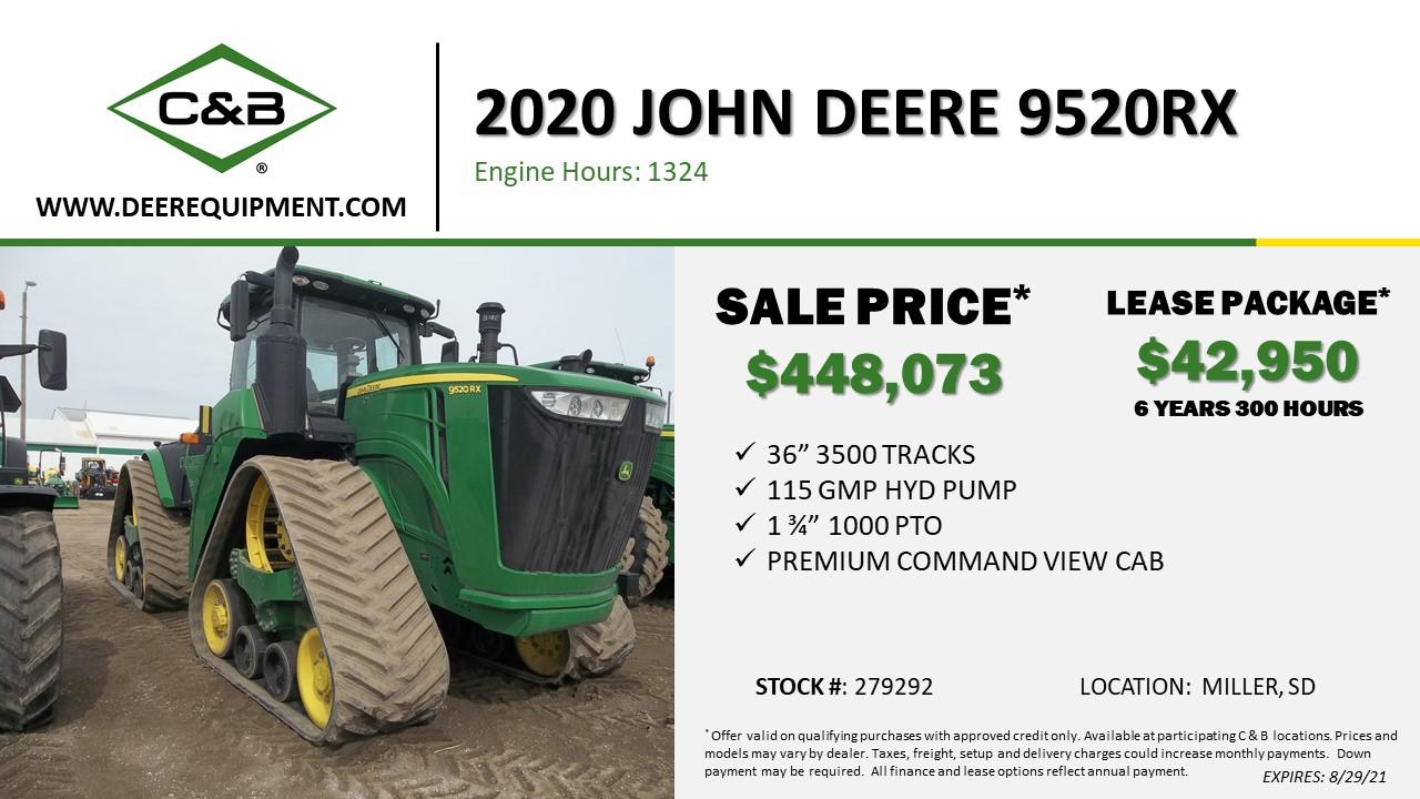 2020 John Deere 9520RX – 279292